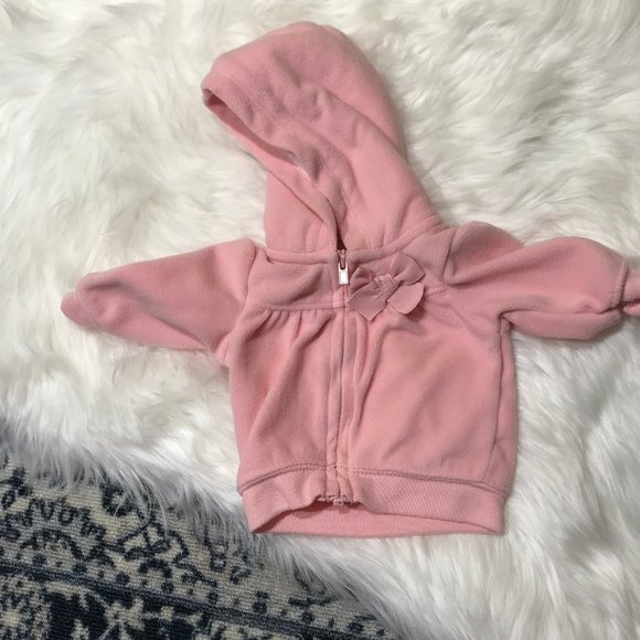 Just one you by Carter's NB Pink fleece jacket